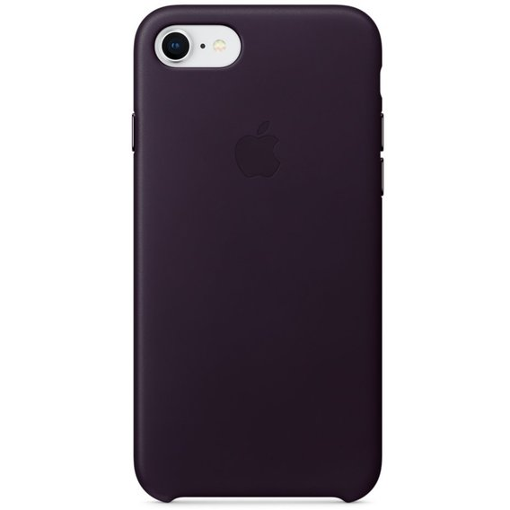 Аксессуар для iPhone Apple Leather Case Dark Aubergine (MQHD2) for iPhone 8/iPhone 7