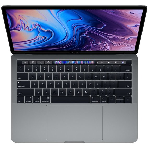 Apple MacBook Pro 13 Retina Space Gray with Touch Bar Custom (Z0V80004K) 2018
