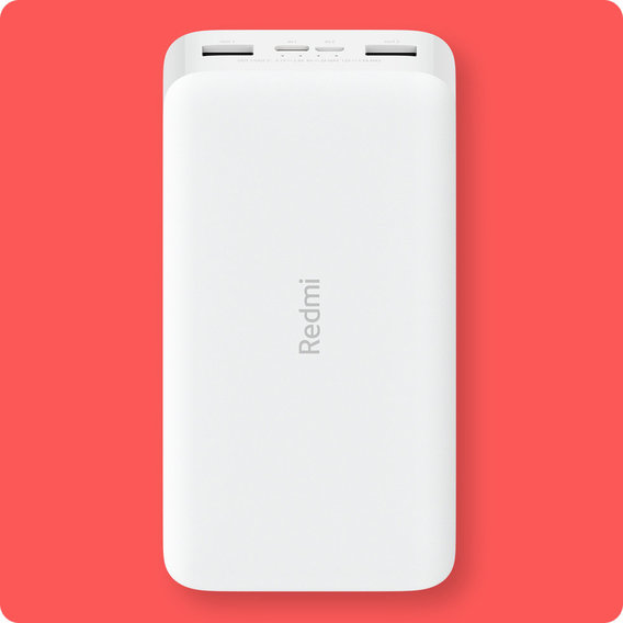 Внешний аккумулятор Xiaomi Redmi Power Bank 20000mAh Quick Charge 18W White (PB200LZM)