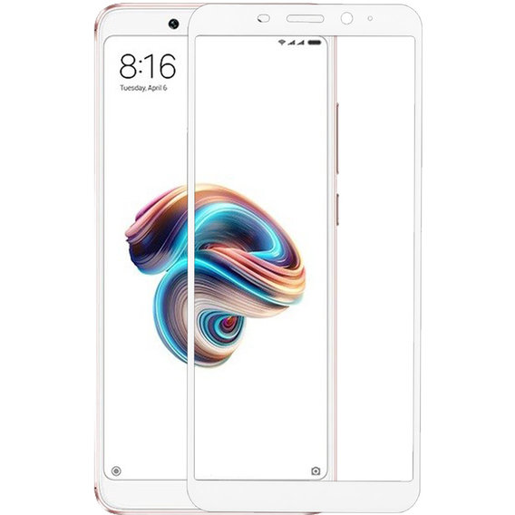 Аксессуар для смартфона MakeFuture Tempered Glass Full Cover Glue White (MGFCFG-XRN5W) for Xiaomi Redmi Note 5