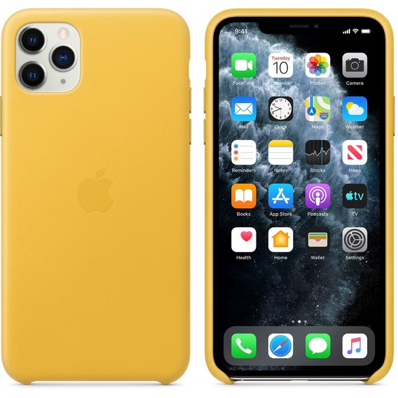 Аксессуар для iPhone Apple Leather Case Meyer Lemon (MX0A2) for iPhone 11 Pro Max