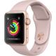 Watch Apple Watch Series 3 38mm GPS Gold Aluminum Case with Pink Sand Sport Band (MQKW2)