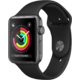 Watch Apple Watch Series 3 42mm GPS Space Gray Aluminum Case with Black Sport Band (MQL12)